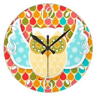 Owl Boheme White Owl Clock