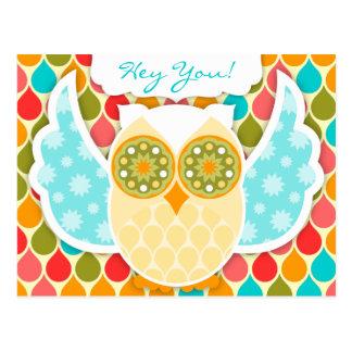 Owl Boheme White Owl Postcard