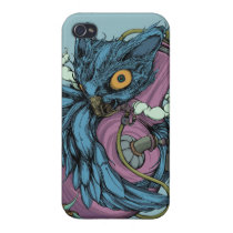 Owl & Bong (Blue) iPhone4/4S Case