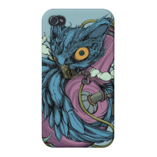 Owl & Bong (Blue) iPhone4/4S Case