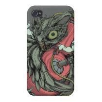 Owl & Bong (Gray) iPhone4/4S Case