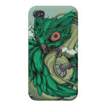 Owl & Bong (Green) iPhone4/4S Case