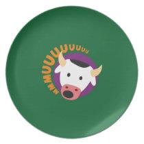 OWL BOO - Cow Melamine Plate