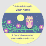 Owl Book Stickers