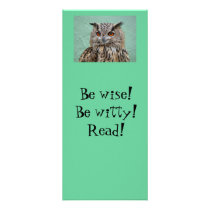 Owl Bookmark Rack Card