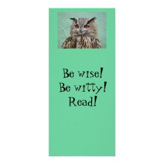 Owl Bookmark Rack Card