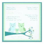 "Owl Boy Baby Shower Invitation 5.25"" Square Invitation Card"
