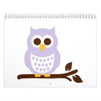 Owl branch calendar
