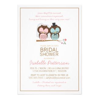 Owl Bride Groom Sweet Bridal Shower Invitation
