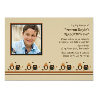 Owl Buddies Photo Graduation Invitation