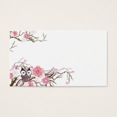 Owl Business Card at Zazzle