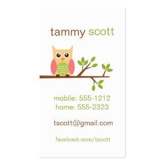 Owl business card  (#BUS002)