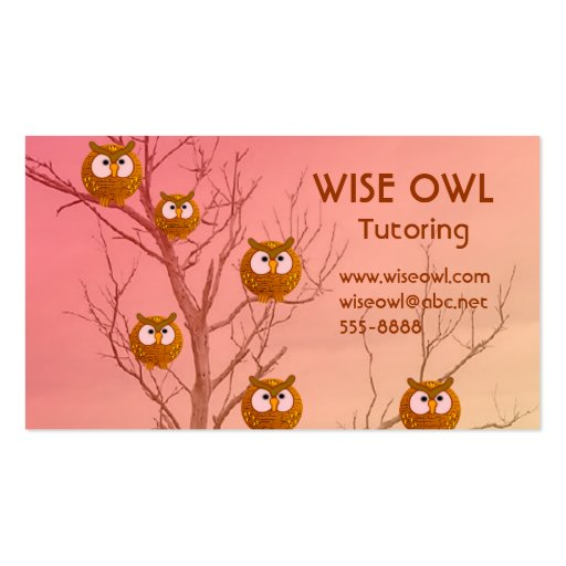 Owl business cards zazzle for Owl business cards