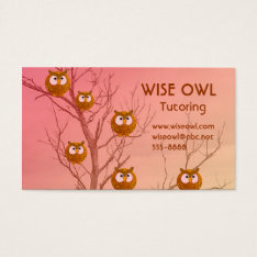 Owl Business Cards at Zazzle