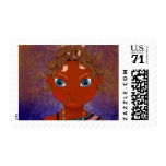 owl butterfly girl postage
