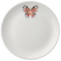 Owl Butterfly Plate Ware De Jantar