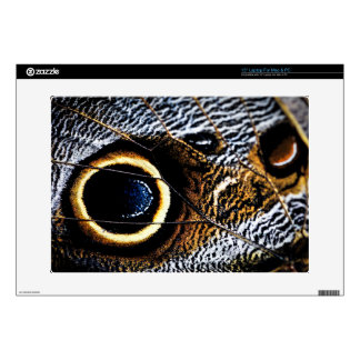 Owl Butterfly wing spots Decal For Laptop