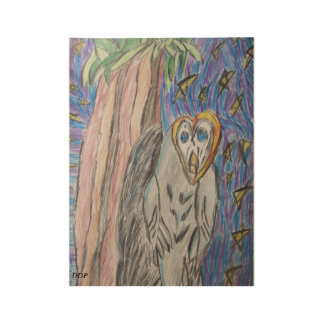 Owl by night one wood poster