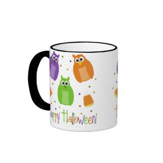 Owl Candy Corn Halloween Mug