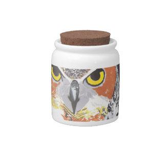 Owl Candy Jar