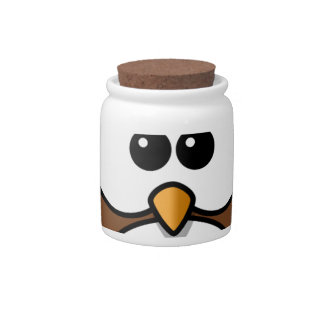 owl candy jars