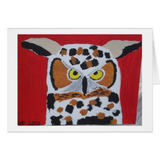 Owl Stationery Note Card