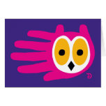 Hand shaped Owl card