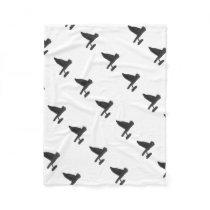 Owl Carrying Books Fleece Blanket