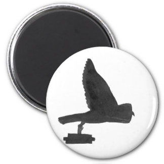 Owl Carrying Books Magnet