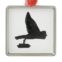 Owl Carrying Books Metal Ornament