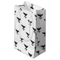 Owl Carrying Books Small Gift Bag