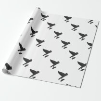 Owl Carrying Books Wrapping Paper