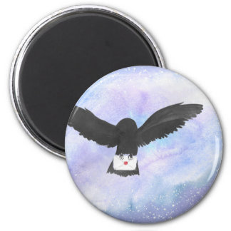 Owl Carrying Mail Magnet
