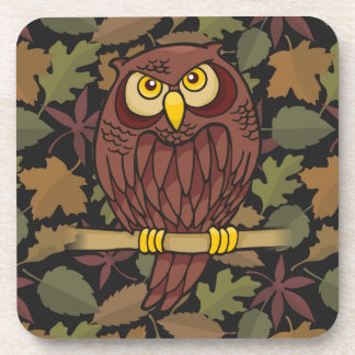 Owl Cartoon Beverage Coaster