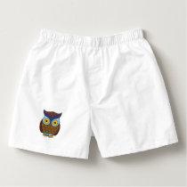 Owl cartoon boxers