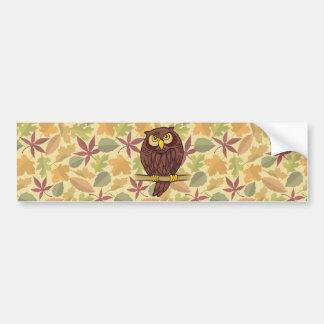 Owl Cartoon Bumper Sticker