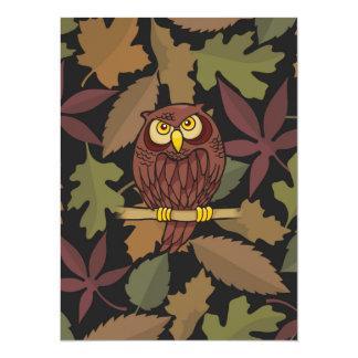 Owl Cartoon Card