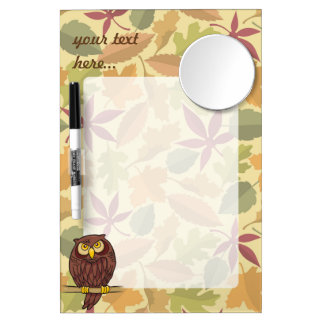 Owl Cartoon Dry Erase Whiteboard