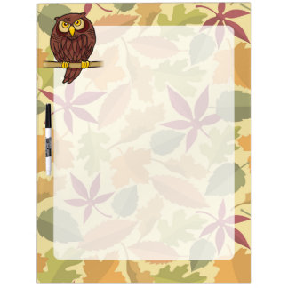Owl Cartoon Dry Erase White Board