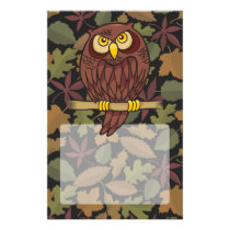 Owl Cartoon Flyer