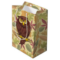 Owl Cartoon Medium Gift Bag
