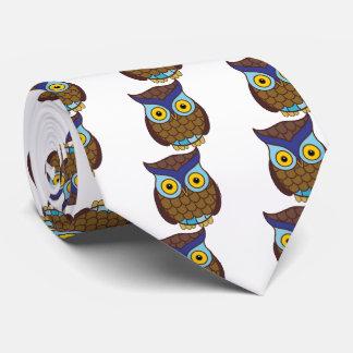 Owl cartoon neck tie