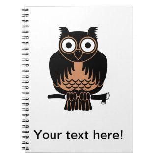 Owl cartoon notebooks