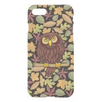 Owl Cartoon on dark background iPhone 8/7 Case