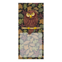 Owl Cartoon Rack Card