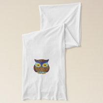 Owl cartoon scarf