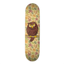 Owl Cartoon Skateboard Deck