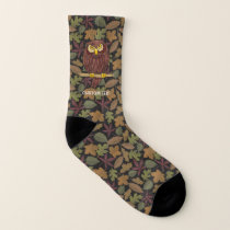Owl Cartoon Socks