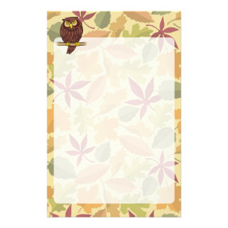 Owl Cartoon Stationery