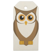Owl Cartoon Wooden Gift Tags